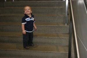 Learning how to climb stairs all by yourself...