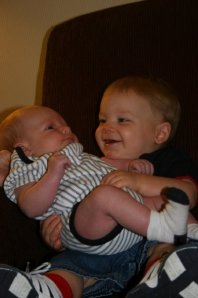 Being able to hold your baby brother...